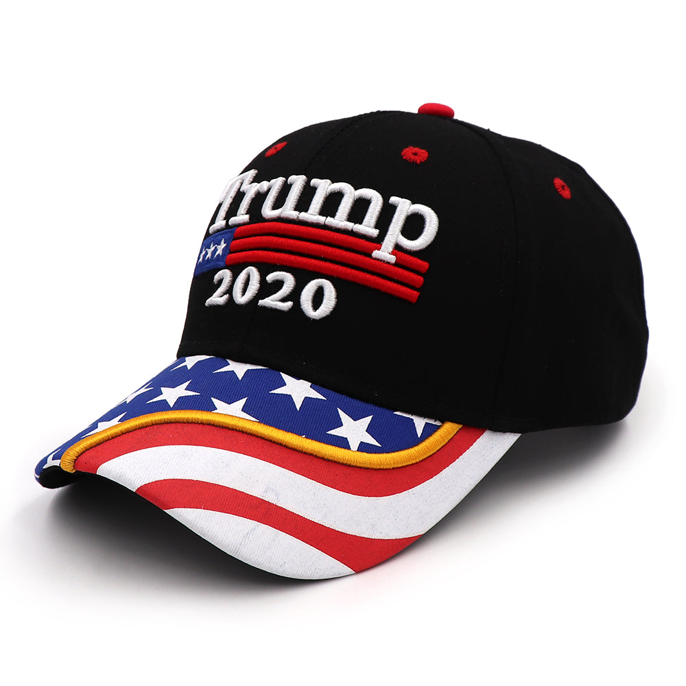 Trump 2020 Flag Bill Hat - USA Flag Trump Hat