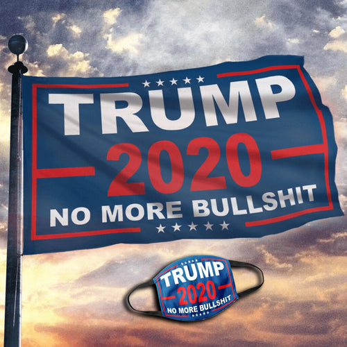 Limited Edition Trump Flags - No More Bull***t 2020 Flag (NEW BUNDLE)