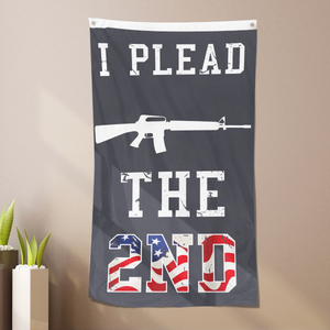 I Plead Gun and The 2nd Flag - Vertical Flag