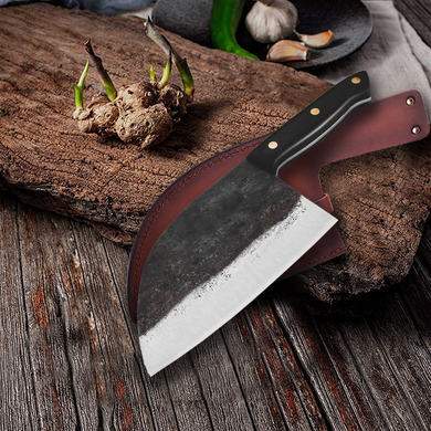 Traditional Handmade Forged Knife - High Carbon Butcher Bone Chopper Knife
