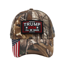 Load image into Gallery viewer, Trump 2024 I'll Be Back Camo - Velcro Patch Hat