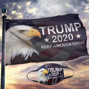 LIMITED EDITION Trump 2020 Keep America Great - American Eagle Flag (NEW BUNDLE)
