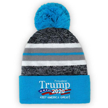 Load image into Gallery viewer, President Trump 2020 - Keep America Great Winter Pom Beanie