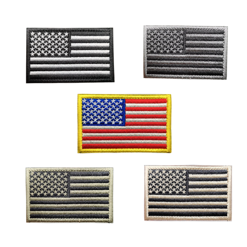 USA Flag Embroidered Tactical Clothing Patch