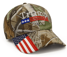 Load image into Gallery viewer, Bullrun Donald Trump 2020 Hat Mossy Oak Camo Hat