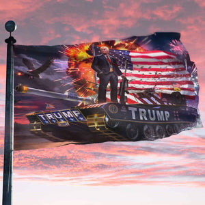 Donald Trump Rare Tank Flag