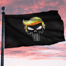 Load image into Gallery viewer, Punisher Trump Sherpa Blanket 50x60 + Free Trump Punisher Flag 3x5 Single Reverse Flag