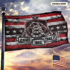 Don't Tread On Me Come and Take It - 2nd Amendment Flag With FREE American Flag Lapel Pin