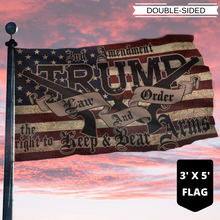 Load image into Gallery viewer, TRUMP 2020 LAW & ORDER 2nd AMENDMENT GUNS FLAG