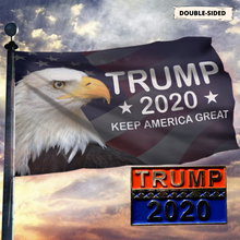 Load image into Gallery viewer, LIMITED EDITION Trump 2020 Keep America Great - American Eagle Flag With FREE Trump 2020 Pin