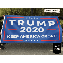 Load image into Gallery viewer, Trump 2020 Rally Flag - Keep America Great 4x6 and 5x8 Flag