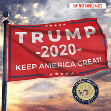 Load image into Gallery viewer, Keep America Great Trump 2020 - Red - Flag - 45th President Pin - Flag Pin Bundle