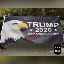 Load image into Gallery viewer, LIMITED EDITION Trump 2020 Keep America Great - American Eagle Flag