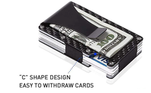 Load image into Gallery viewer, Carbon Fiber RFID Wallet Money Clip