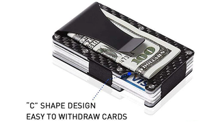 Carbon Fiber RFID Wallet Money Clip