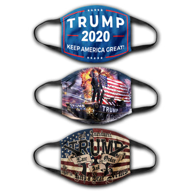 KAG Rally Flag - Trump Tank Flag - Law And Order Flag - Face Cover Bundle