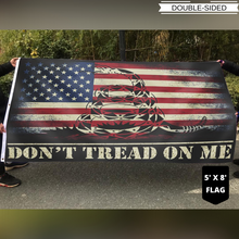 Load image into Gallery viewer, Don't Tread On Me USA 4x6 and 5x8 Flag