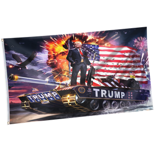 Pre-Release Limited Edition Trump 2020 KAG - Leggings - USA Colorway + 3x5 Trump Rare Tank Flag + American Flag Lapel Pin