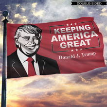 Load image into Gallery viewer, Donald Trump Keeping America Great Flag