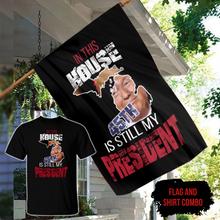 Load image into Gallery viewer, In This House, 45th Is Still My President - Michigan Shirt and FREE Matching Flag