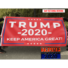 Load image into Gallery viewer, Keep America Great Trump 2020 - Red - Flag - Trump 2020 Pin - Flag Pin Bundle