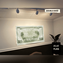 Load image into Gallery viewer, Trump 2020 Twenty Dollar Bill - Flag