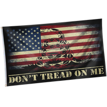 Load image into Gallery viewer, Pre-Release Limited Edition Trump 2020 KAG - Leggings - USA Colorway + 3x5 Don't Tread On Me USA Flag