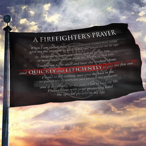 Firefighter's Prayer Flag