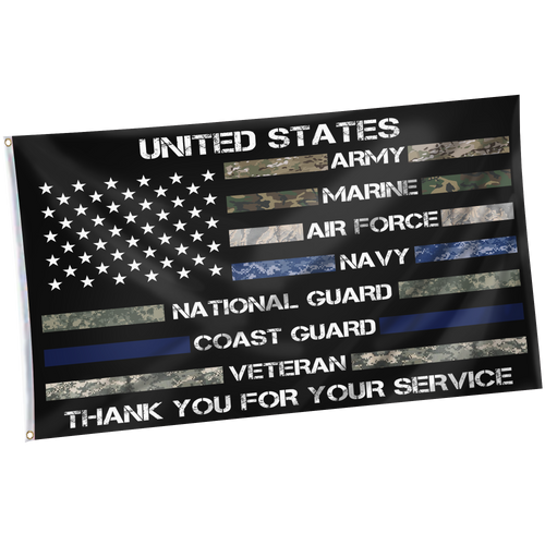 Thank You For Your Service Military Force Personnel Appreciation Flag