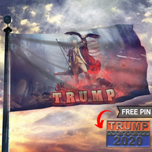 Load image into Gallery viewer, Trump 2020 Keeping America Great - Star Spangled Flag With FREE Trump 2020 Pin