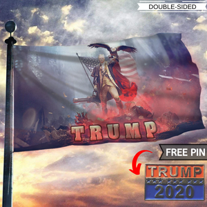 Trump 2020 Keeping America Great - Star Spangled Flag With FREE Trump 2020 Pin