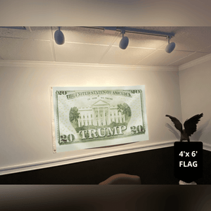 Trump 2020 Twenty Dollar Bill - Flag