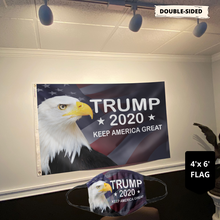 Load image into Gallery viewer, LIMITED EDITION Trump 2020 Keep America Great - American Eagle Flag (NEW BUNDLE)