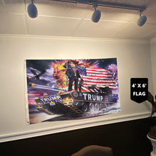 Load image into Gallery viewer, (CLEARANCE) Donald Trump Rare Tank Flag