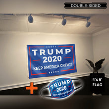 Load image into Gallery viewer, Trump 2020 Keep America Great Rally Flag (NEW BUNDLE)