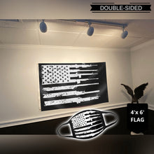 Load image into Gallery viewer, 2nd Amendment American Rifle Flag 3x5 Flag - Black (NEW BUNDLE)