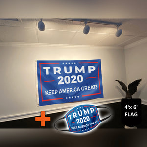 Trump 2020 Keep America Great Rally Flag (NEW BUNDLE)