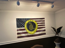 Load image into Gallery viewer, Gadsden Politically Incorrect USA Flag- Grunge
