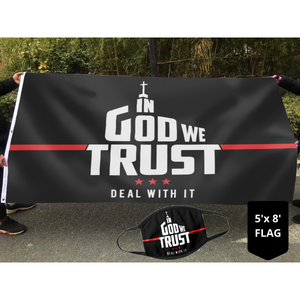 In God We Trust - Deal With It Limited Edition Flag (NEW BUNDLE)