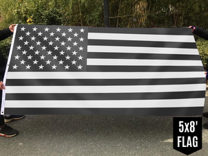 United States of America - American Flag - Black & White
