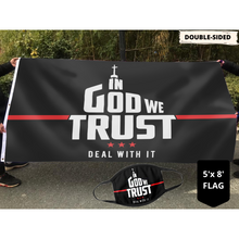 Load image into Gallery viewer, In God We Trust - Deal With It Limited Edition Flag (NEW BUNDLE)
