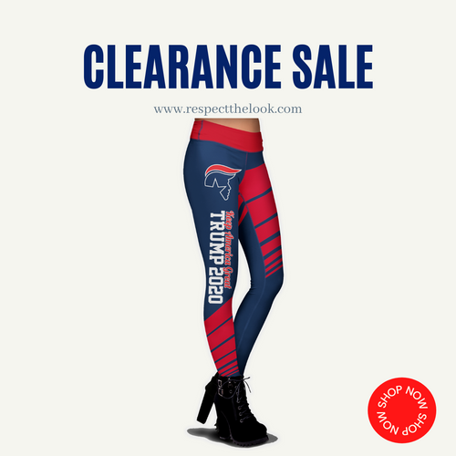 (CLEARANCE) Trump 2020 KAG - Leggings - USA Colorway