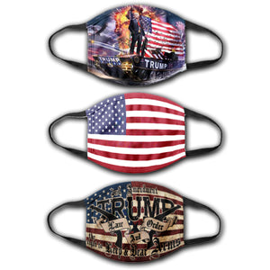 Law and Order - USA Flag - Trump Tank - Face Cover Bundle