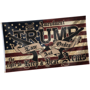 Pre-Release Limited Edition Trump 2020 KAG - Leggings - USA Colorway + 3x5 Trump Law and Order Flag