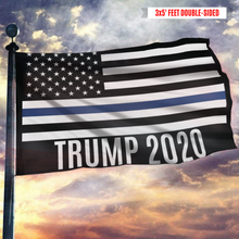 Load image into Gallery viewer, Thin Blue Line Trump 2020 American Flag