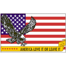 Load image into Gallery viewer, Eagle Emblems - America Love It Or Leave It USA Flag