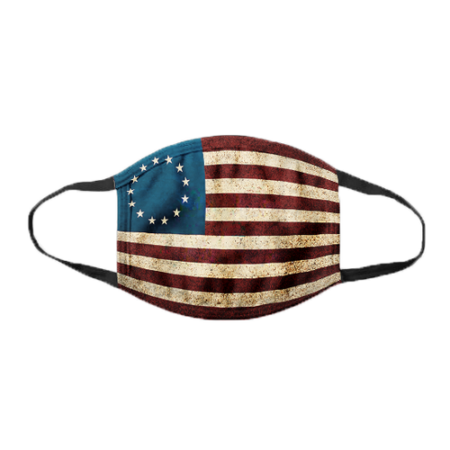 American Flag - Betsy Ross Flag - Cotton Face Cover