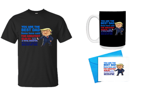 Father's Day Gift - You are the Best Dad Shirt, Mug, w/ Father's Day Card Bundle