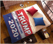 Load image into Gallery viewer, Trump 2020 No More Bullsh*t Plush Fleece Blanket - 50x60 + FREE MATCHING 3x5 SINGLE REVERSE FLAG