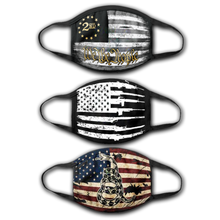 Load image into Gallery viewer, 2A We The People - American Rifle Flag -  DTOM Vintage USA - Face Cover Bundle